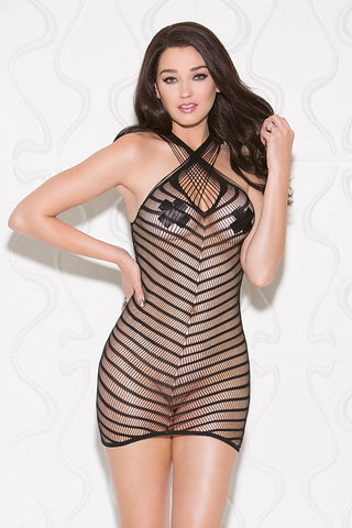 32091 between the lines chemise by Glitter Lingerie