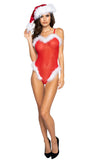 LI319 Mrs. Claus Curvy Mesh & Fur Teddy by Roma
