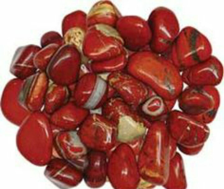 Red Jasper Tumbled Stone (per each stone)