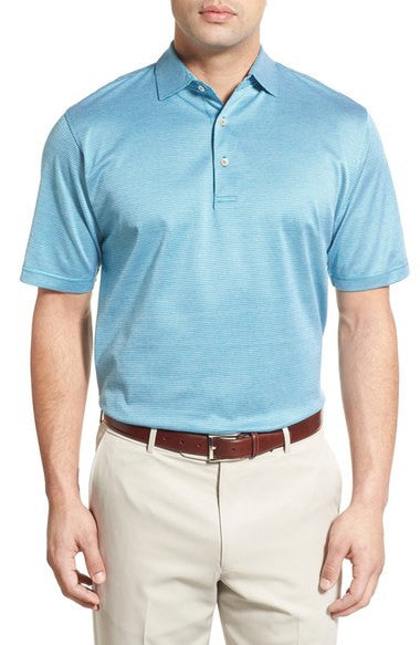 'Sean Stripe' Jacquard Egyptian Cotton Lisle Polo