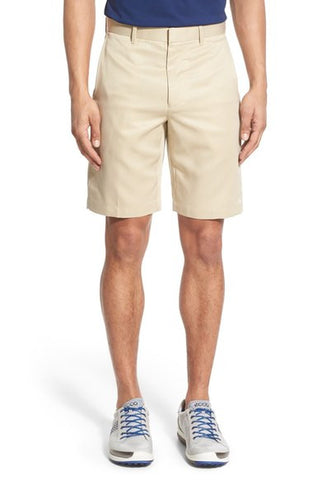 'Tech' Flat Front Wrinkle Free Stripe Golf Shorts