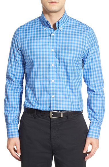 'Ace' Regular Fit Long Sleeve Plaid Sport Shirt