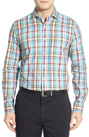 'Terminus' Regular Fit Long Sleeve Plaid Sport Shirt