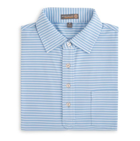 Donald Stripe Mesh Polo (Self Collar)