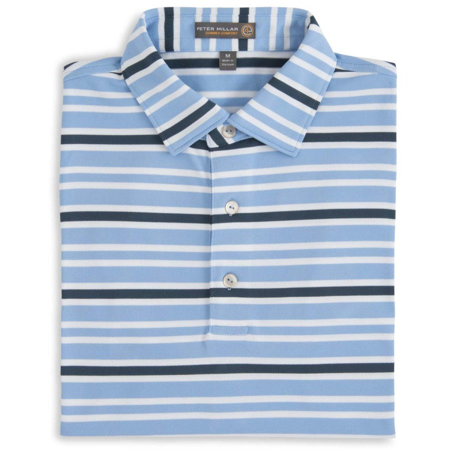Taz Stripe Stretch Mesh Polo