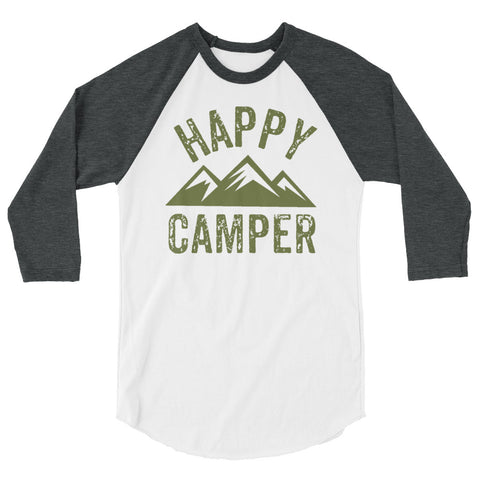 Happy Camper 3/4 sleeve raglan shirt