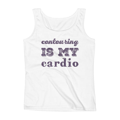 Contouring Is My Cardio Ladies' Tank