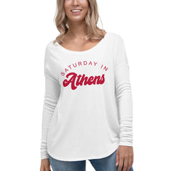 Saturday In Athens UGA Ladies' Long Sleeve Tee