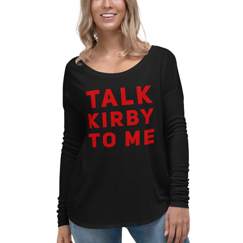 Talk Kirby To Me UGA Ladies' Long Sleeve Tee