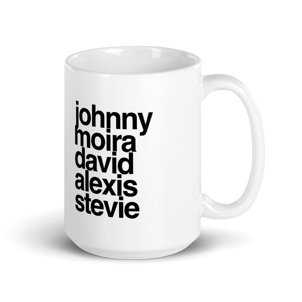 Johnny, Moira, David, Alexis, Stevie Oversized 15oz Mug