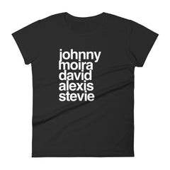 Johnny, Moira, David, Alexis & Stevie Women's short sleeve t-shirt