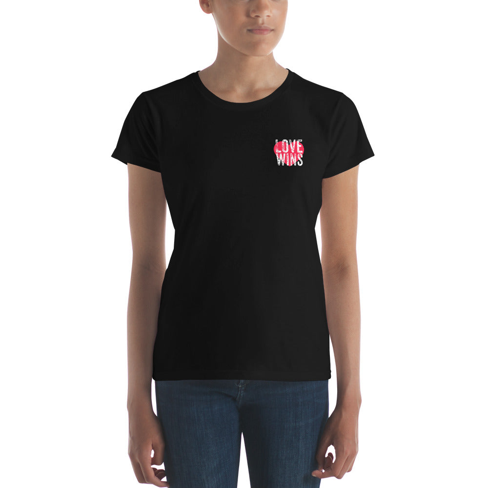 Love Wins Women's short sleeve t-shirt