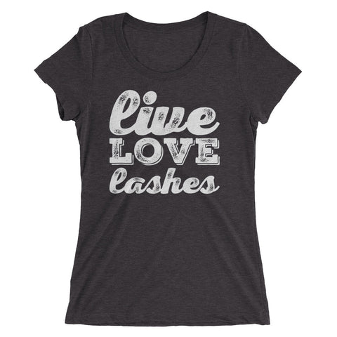 Live, Love, Lashes Ladies' short sleeve t-shirt