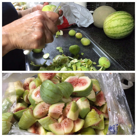 Peeling Figs for Fig Jam