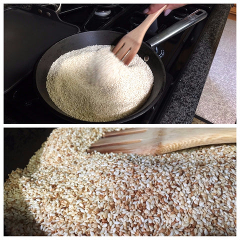 Toasting Sesame Seeds for Fig Jam