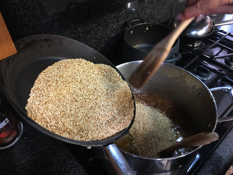 Adding Sesame Seeds to Fig Jam