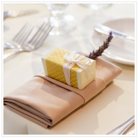 Ococoa Chocolate 2 piece Wedding Favor Box