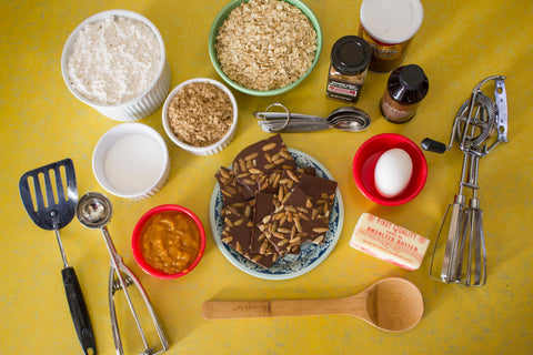 Oatmeal Pumpkin Chocolate Cookie Ingredients