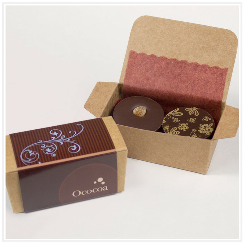 Ococoa 2 Piece Favor Box Cashew Apricot and Sunflower Honey Nut Butter Cups