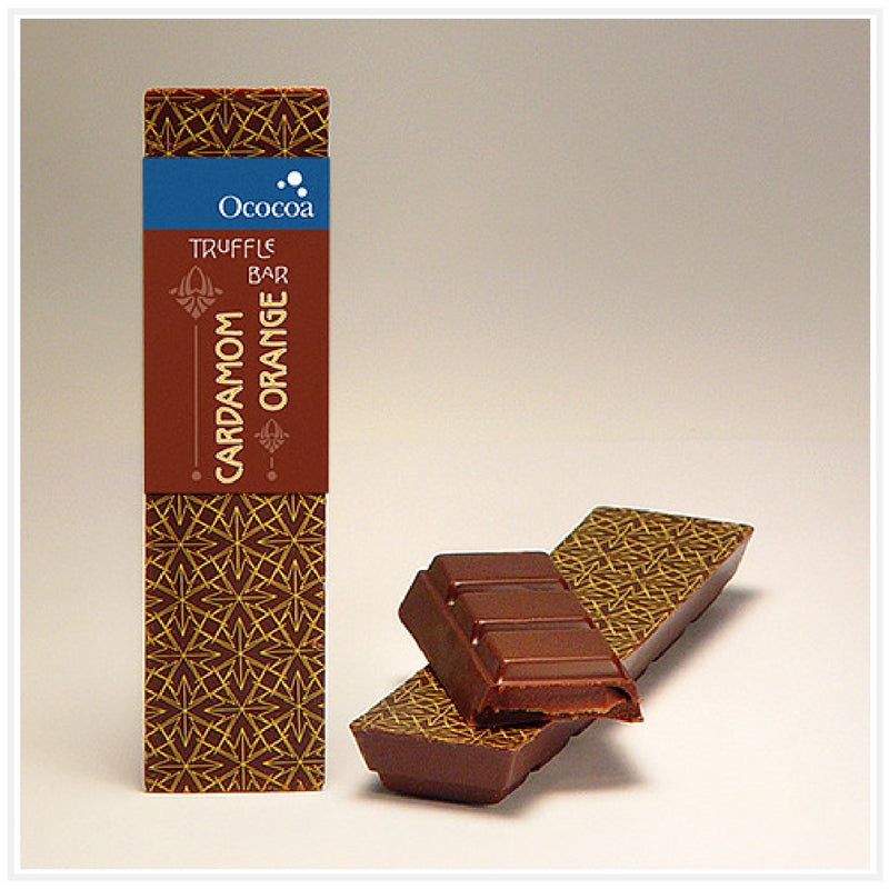 Ococoa Chocolate Cardamom Orange Truffle Bar