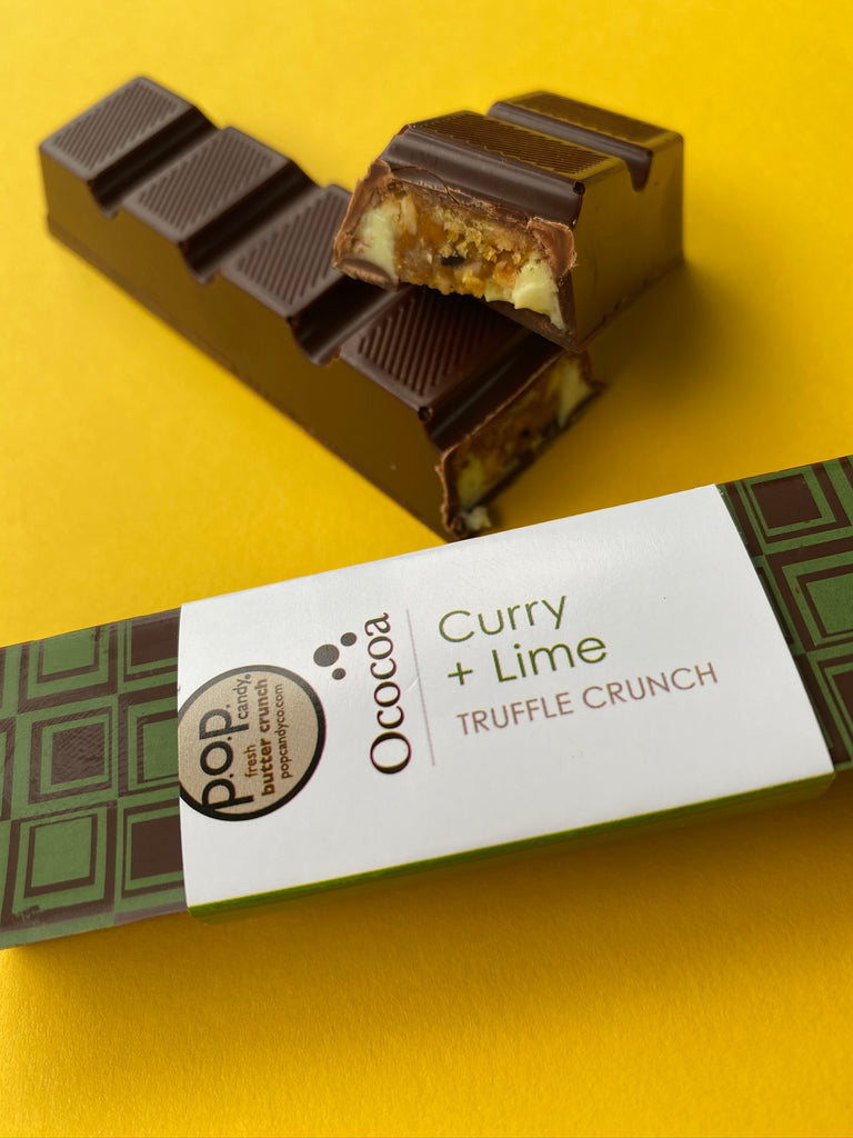 Curry + Lime Truffle Crunch Bar