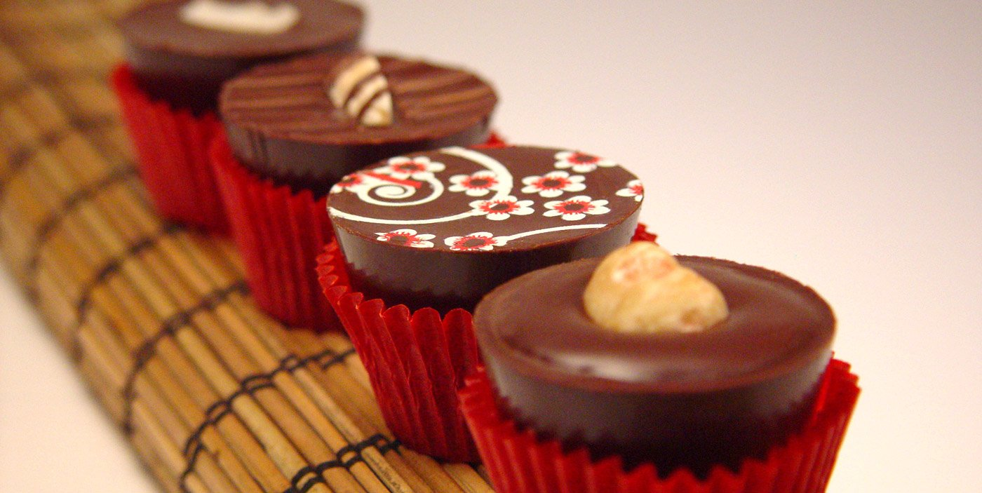 Enjoy chocolates infused with spirits