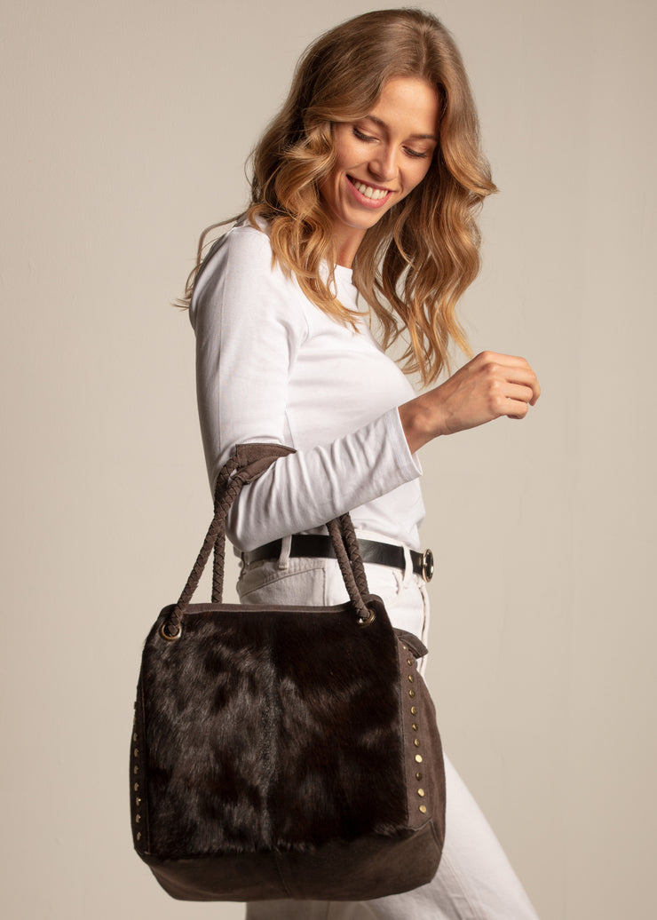 Slouchy Suede and Hide Shopper