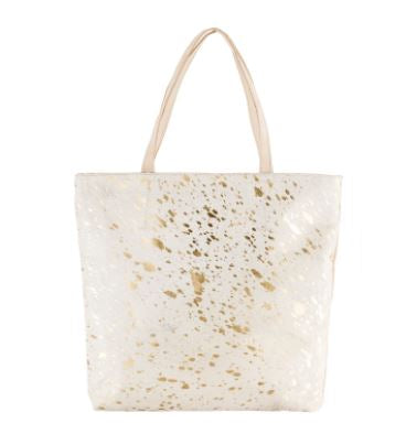 Large Square Cowhide Shopper Bag