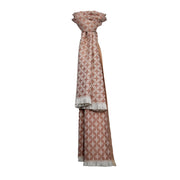 Diamond Petal Woven Scarf with Frayed Edge