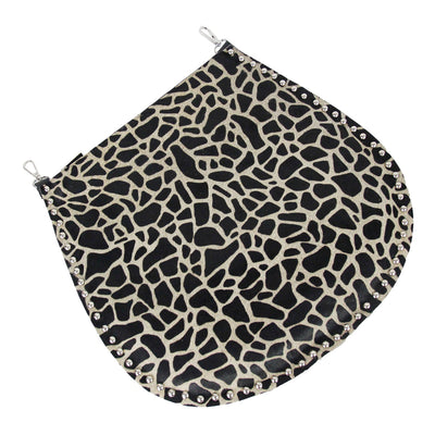 Studded Edge Animal Print Cross Body Bag