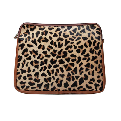Real Printed Hide & Leather Laptop Bag