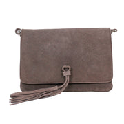 Small Suede Coloured Tassel Bag