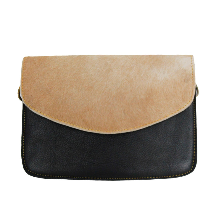 Medium Leather and Hide Bag