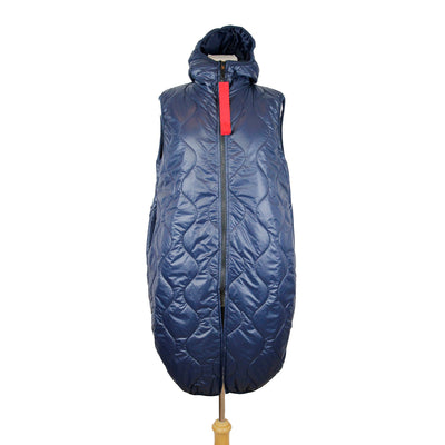 Long Length Sleeveless Gilet with Hood
