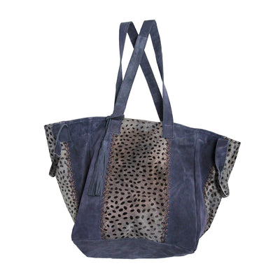 Large suede slouchy hobo bag