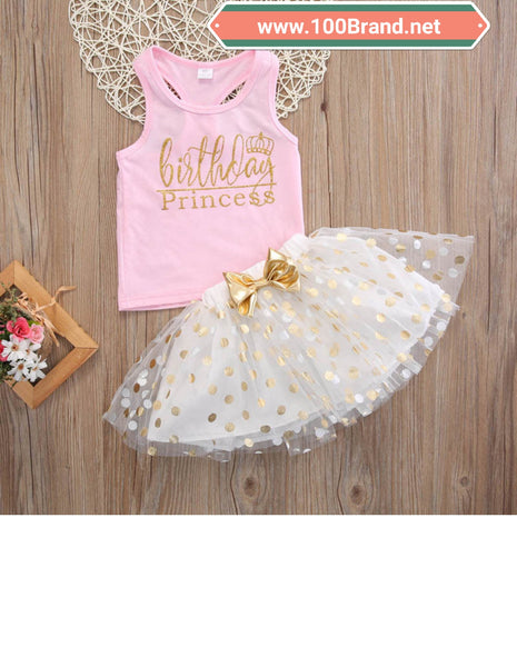 Birthday Princess Toddler 2pc