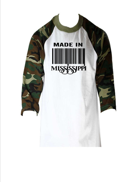 Made In MS Baseball tees(Unisex)