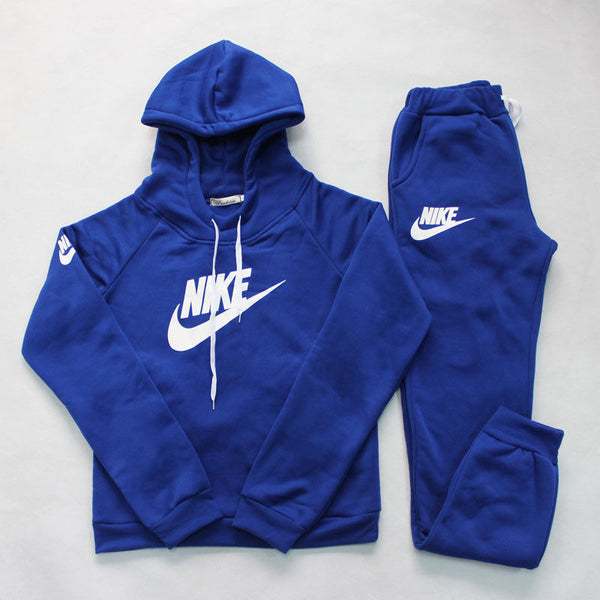 Women Nike Solid Sweat Suit