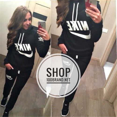 5463300e838b Women Nike Solid Sweat Suit – 100 Brand