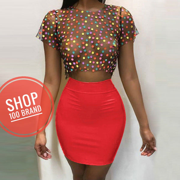 Fruit Cocktail Mini Skirt (2pc)