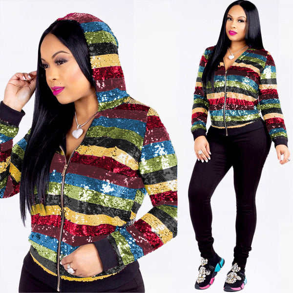 Rainbow Sequin Jackets