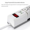 Rotating Outlets Surge Protector Power Strip with Two Smart USB Ports