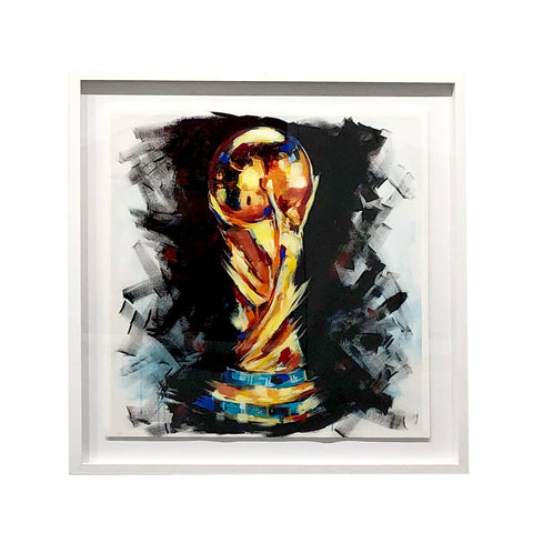 World Cup 2018 Blk Background Embellished Print