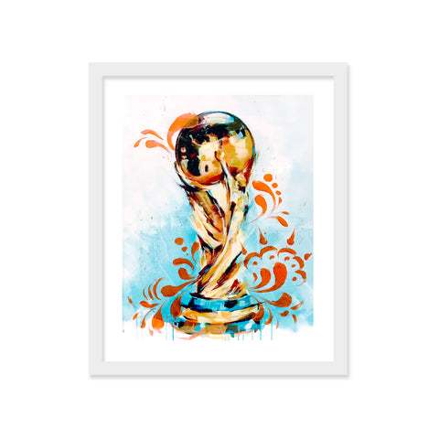 World Cup 2018 Orange Talavera Embellished Print