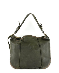 Anna Hobo in Bolsa Nova Italian leather, Black