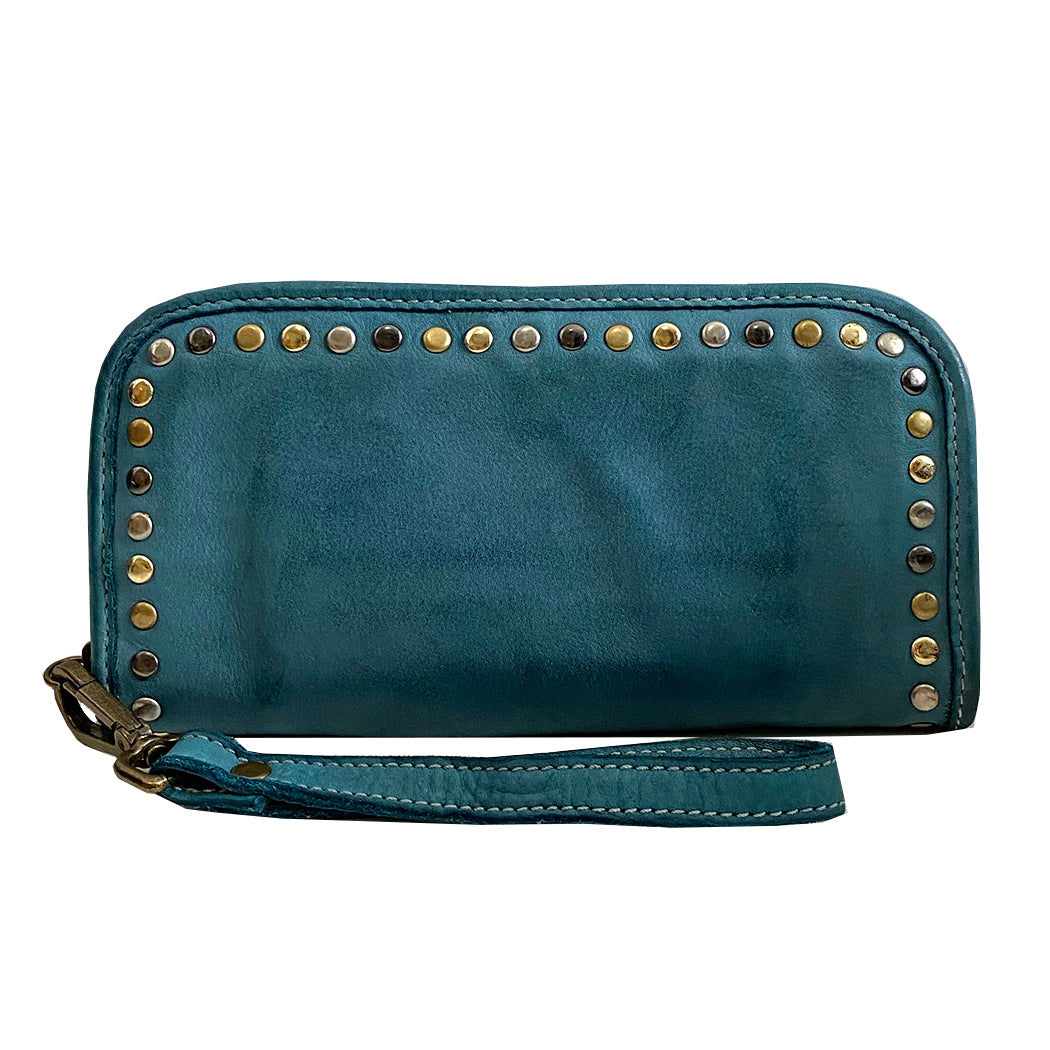Sofia zip around wallet teal