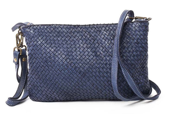 Laura woven crossbody in Navy