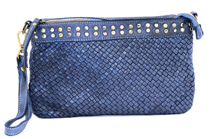 Christina woven crossbody in Denim
