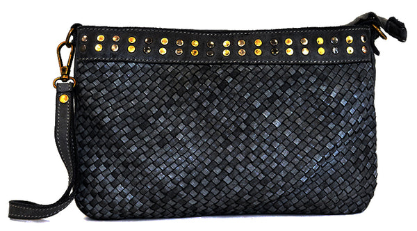 Christina woven crossbody in black