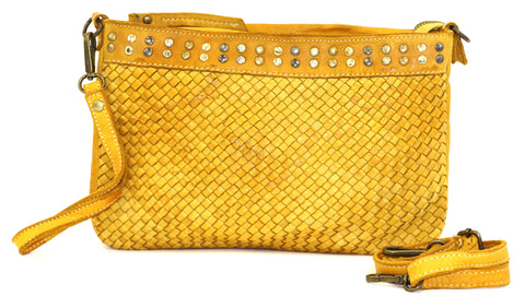 Christina woven crossbody in Yellow